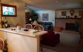 Kitchen Bar & Living Room